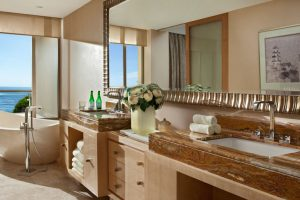 The Mulia & Mulia Villas – The Earl Ocean View Suite Bathroom (Chilli Travel)